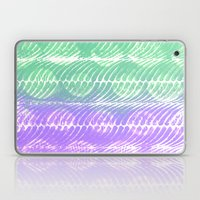 Mint And Lilac Waves Laptop & iPad Skin
