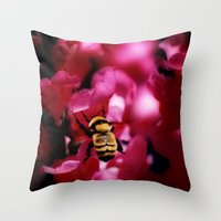 Busy Bumblebee Throw Pillow