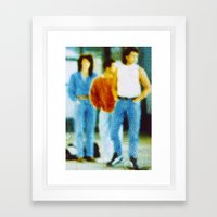 Waiting For The Bus In T… Framed Art Print