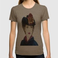 Irene Adler Womens Fitted Tee Tri-Coffee SMALL