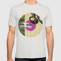 Play hide and seek with petit Nicola Mens Fitted Tee Silver SMALL