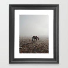 Fogged Horse Framed Art Print