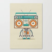Music robot Canvas Print