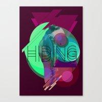 Hiding Tonight Canvas Print