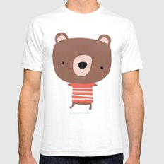 Christmas cute bears SMALL Mens Fitted Tee White