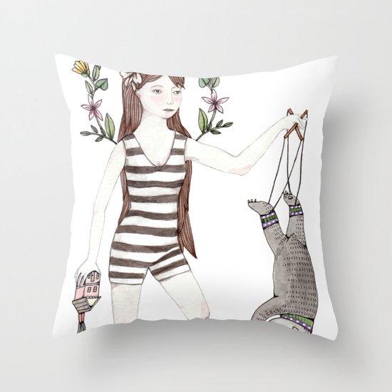 Dangle Bear Throw Pillow