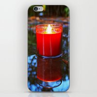 Candle reflected iPhone & iPod Skin