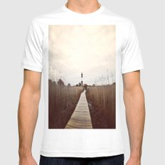 Light House Mens Fitted Tee White SMALL