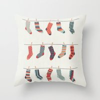 Don't Waste Time Matching Socks Throw Pillow