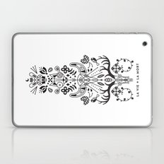 La Vie + La Mort: Black Ink Laptop & iPad Skin