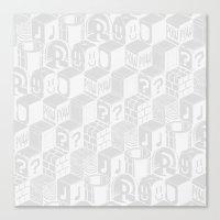 SUPER MARIO BLOCK-OUT! (White Edition) Canvas Print