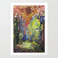 Loneliness Under The Str… Art Print