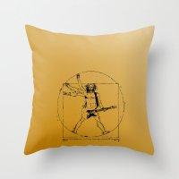 Leonardo Guitar Throw Pillow