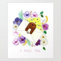 I Miss You.   Art Print