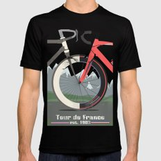 Tour De France Bicycle SMALL Black Mens Fitted Tee