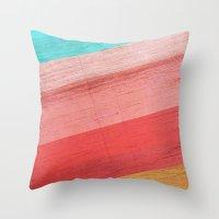 Warm Waves  Throw Pillow