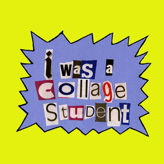 I was a collage student Canvas Print