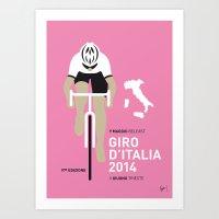 MY GIRO D'ITALIA MINIMAL… Art Print