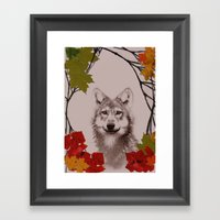 among the leaves (evening) Framed Art Print