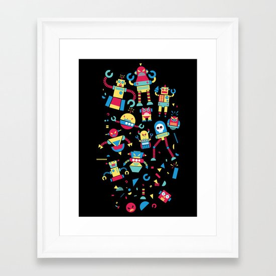 Angrrry Robots! Framed Art Print
