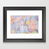 Wind I - Colored Pencil Framed Art Print