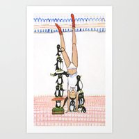 Headstand With Silly Pen… Art Print