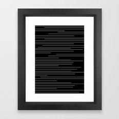 Minimalistic Lines Black Framed Art Print