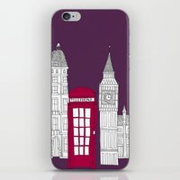 Night Sky // London Red Telephone Box iPhone & iPod Skin