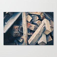 Wood Scraps Canvas Print
