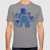 Powder Blue And Indigo S… Mens Fitted Tee Athletic Grey SMALL