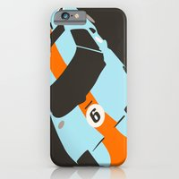 iPhone & iPod Case featuring Orange Notch - Ford GT40 Race Car by Cale Funderburk
