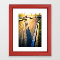 Seoul Cycling Framed Art Print