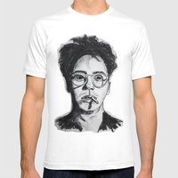 Robert Downey Jr. Mens Fitted Tee White SMALL
