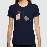 Charging Womens Fitted Tee Navy SMALL
