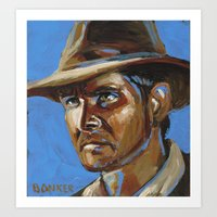 Indiana Jones - Harrison Ford Art Print