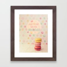 just one more macaron Framed Art Print