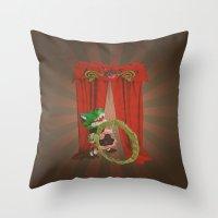 Rose The Human Gator Throw Pillow
