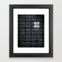 Pattern Eight Black And … Framed Art Print
