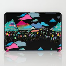 candy mountains over lollipop trees iPad Case