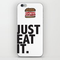 JUST EAT IT... BURGER iPhone & iPod Skin