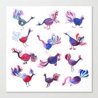 Purple palette  Canvas Print