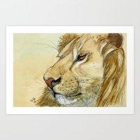 Lion - Tender portrait 539 Art Print