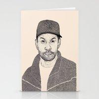 Denzel Washington Portrait Stationery Cards