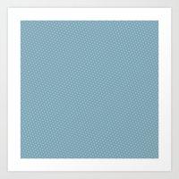 U13: Blue Droplet Art Print