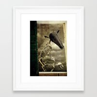 Pet Skeleton Framed Art Print