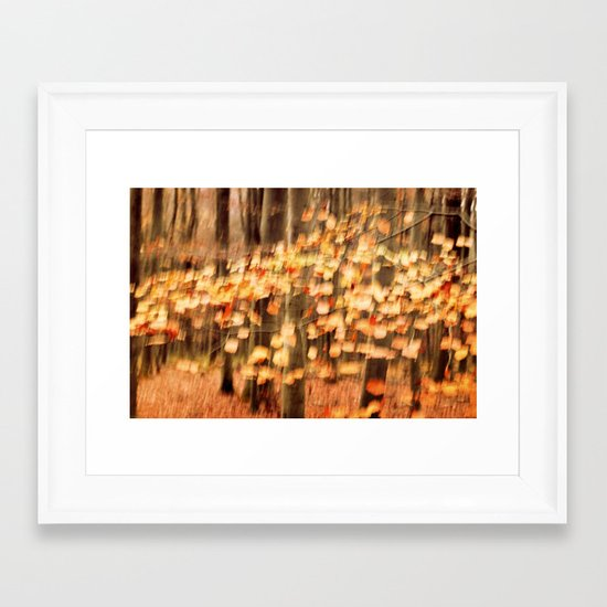 dancing leaves II Framed Art Print