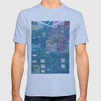 Seoul City #3 Mens Fitted Tee Athletic Blue SMALL