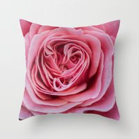 Pink folds Throw Pillow