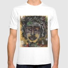 Street Artist  White Mens Fitted Tee SMALL