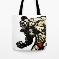 Bear Wrestler - Street F… Tote Bag